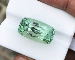 23 Ct Natural Green Transparent Kunzite Spodumene Gemstone