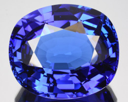 31.91 Cts Natural Blue Tanzanite AAA+ Cushion mix Oval Cut Tanzania