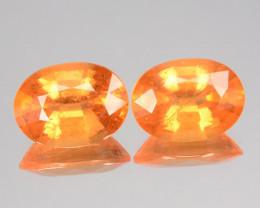 ~PAIR~ 4.64 Cts Natural Fanta Orange Spessartite Garnet Oval Cut Nigeria