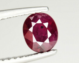 1.0 cts Natural Red Color Ruby - Mozambique