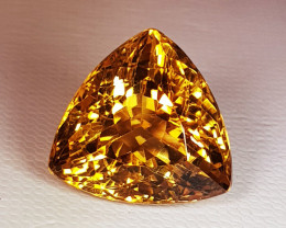 17.78ct Top Quality Triangle Cut Golden Whisky Color Natural Citrine