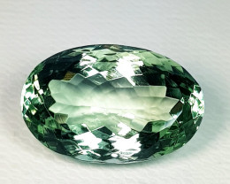 10.40 ct Top Quality Fantastic Oval Cut Natural Green Amethyst