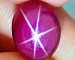 7.25 Carat Fiery Star Ruby Cabochon - Gorgeous