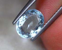 1.38ct Natural Blue Aquamarine Oval Cut Lot GW7748