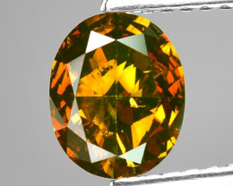 1.29 Cts Sparkling Rare Fancy Orange Red Color Natural Loose Diamond