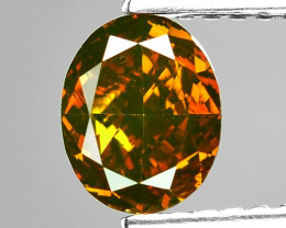 1.01 Cts Sparkling Rare Fancy Orange Red Color Natural Loose Diamond