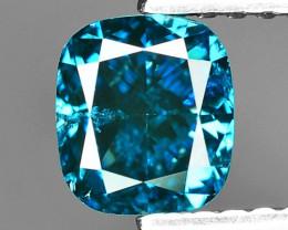 1.02 Cts Sparkling Rare Fancy Intense Blue Color Natural Loose Diamond