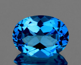 8x6 mm Oval 1.18 cts Swiss Blue Topaz [VVS]