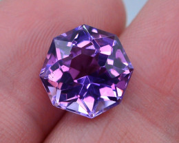 6.45 CT Natural Gorgeous Color Fancy Cut Amethyst ~ T