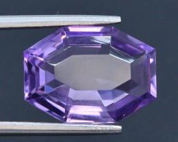 5.95 CT Natural Gorgeous Color Fancy Cut Amethyst ~ T