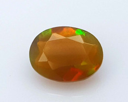 0.65CT FACETED OPAL FIRE BEST QUALITY GEMSTONE IIGC14