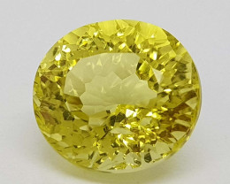 5.35Crt Concave lemon Quartz Natural Gemstones JI2