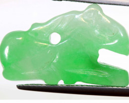 13.20 CTS- NATURAL JADE NEPHRITE CARVING  LG-413