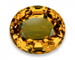 30.23 Cts Dazzling Brillant Cut Yellow Tourmaline