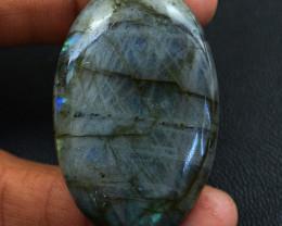 Genuine  105.00 Cts Blue Flash Labradorite Oval Shape Cabochon V119