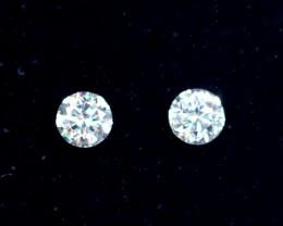2.1mm D-F Brilliant Round VVS Loose Diamond 2pcs