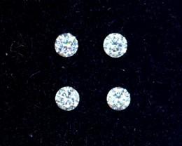 2.3mm D-F Brilliant Round VS Loose Diamond 4pcs