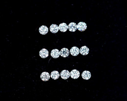 1.1mm D-F Brilliant Round VS Loose Diamond 15pcs