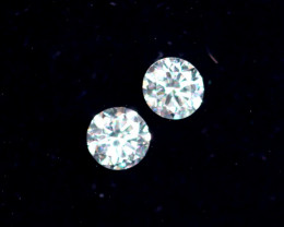 2.0mm D-F Brilliant Round VVS Loose Diamond 2pcs