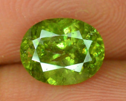 GIL Certified 1.71 ct Demantoid Garnet with Horsetail Inclusion