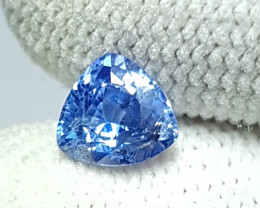 NO HEAT 1.05 CTS NATURAL STUNNING TRIANGLE CUT BLUE SAPPHIRE SRI LANKA