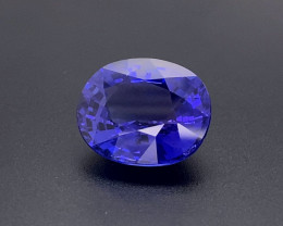 27.62 lovely color d block tanzanite gemstone