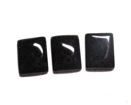 6.02cts Onyx Matching Buff TopSquare Rectangular Disc Shapes