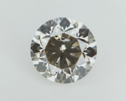 0.96 ct , Dark Natural Diamond , Round Excellent Cut , Untreated Diamond