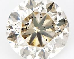 0.96 ct , Dark Natural Diamond , Round Excellent Cut , Untreated Diamond
