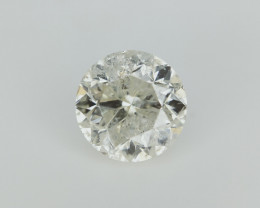 0.91 cts , Natural Yellow Diamond , Light Yellow color diamond