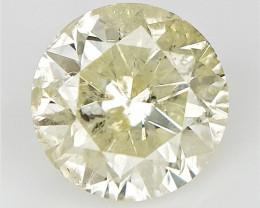 0.90 cts , Solitaire Diamond , Carat Diamond , Light Fancy Diamond