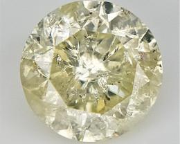 1.00 Cts , Loose Natural Diamond , Round  Light Diamond , Light Color Diamo