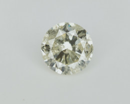 1.00 Carat , Round Brilliant diamond , With Natural Impurities