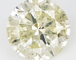 1.00 Carat , Round Brilliant diamond , With Natural Impurities