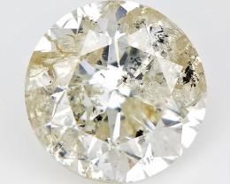 1.03 cts , Champagne Natural Diamond , Round Brilliant Cut