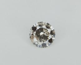 0.47 ct , Rare Dark Natural diamond , Natural Round Cut