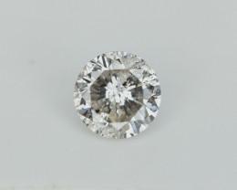 0.66 cts , Diamante natural , corte redondo brillante