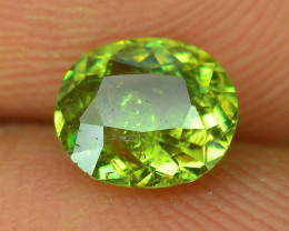 GIL Certified Top Highest Quality 1.06 ct Demantoid Garnet