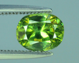 GIL Certified Top Highest Quality 1.17 ct Demantoid Garnet