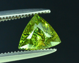GIL Certified Top Highest Quality 0.91 ct Demantoid Garnet