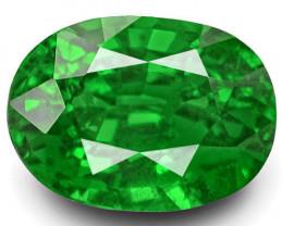 IGI Certified Kenya Tsavorite Garnet, 2.38 Carats, Rich Chrome Green Oval
