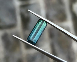 1.95 Ct Natural Dark Bi Color Transparent Tourmaline Gemstone