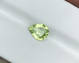 1.10 Ct Natural Green Pear Cut Transparent Peridot Gemstone