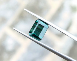 1.85 Ct Natural Blueish Green Transparent Tourmaline Gemstone