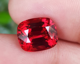 NO TREAT 5.52 CTS TOP NATURAL STUNNING VIVID RED SPINEL FROM BURMA