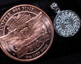 Sun God ,Aztec n Mayan Silver pendant n Calendar  CP 339