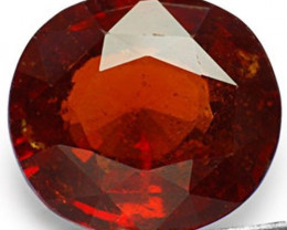 Sri Lanka Hessonite Garnet, 11.08 Carats, Orangy Brown Oval