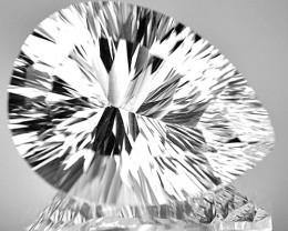 22.25 Cts Natural Sparkling Quartz Pear - Drop (Concave Cut) Brazil