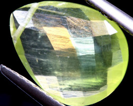 3.50  CTS PREHNITE FACETED BEAD     LG-464