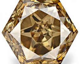 Australia Fancy Color Diamond, 0.44 Carats, Fancy Intense Champagne Brown